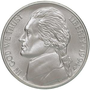 1994 P Matte Nickel